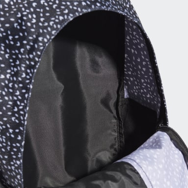 Women Sportswear Black Linear Graphic Backpack