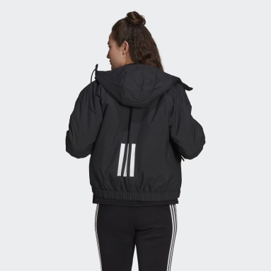 Women City Outdoor Black Back to Sport Hooded Insulated Jacket