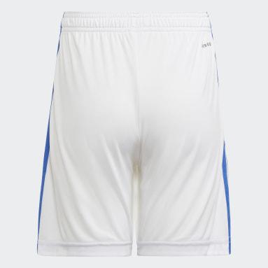 Shorts 1 Real Madrid 21/22 Branco Meninos Futebol
