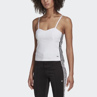 Women Originals White Corset Long-Sleeve Top