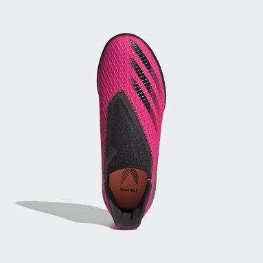 Kinderen Voetbal Roze X Ghosted.3 Veterloze Turf Voetbalschoenen