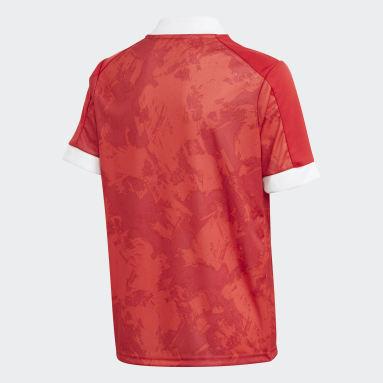 Camiseta primera equipación Rusia Rojo Niño Fútbol
