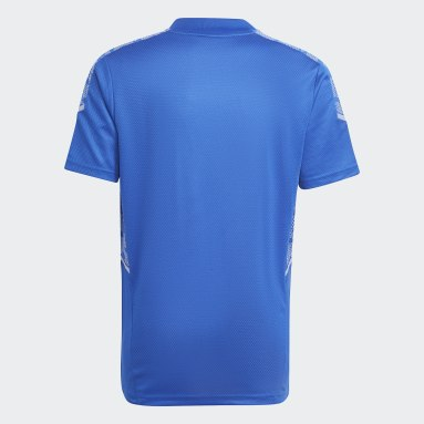 Youth 8-16 Years Football Blue Condivo 21 Primeblue Training Jersey