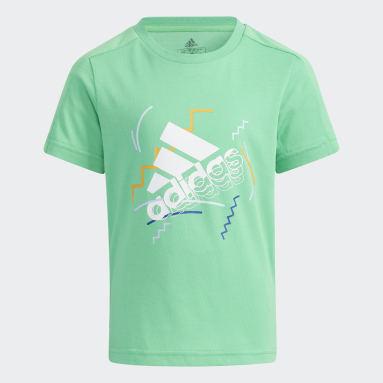 Kids 4-8 Years Gym & Training Green Cotton T-Shirt