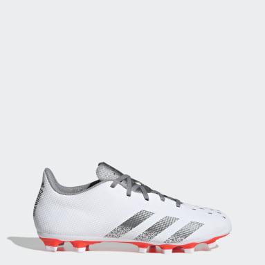 Men Football White Predator Freak.4 Flexible Ground Boots