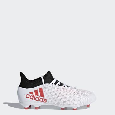 เด็กผู้ชาย ฟุตบอล สีเทา รองเท้าฟุตบอล X 18.1 Firm Ground