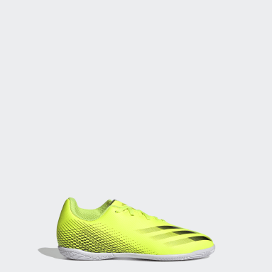 Kids 4-8 Years Football Yellow X Ghosted.4 Indoor Boots