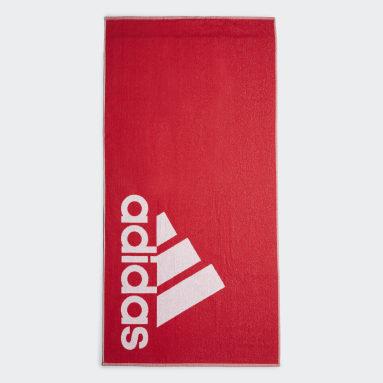 Vintersport Rød adidas håndklæde, stort