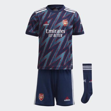 Kids 4-8 Years Football Blue Arsenal 21/22 Third Mini Kit