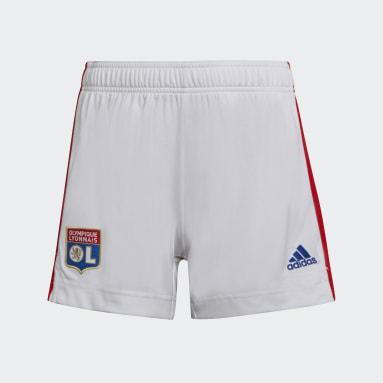 Women Football White Olympique Lyonnais 21/22 Home Shorts