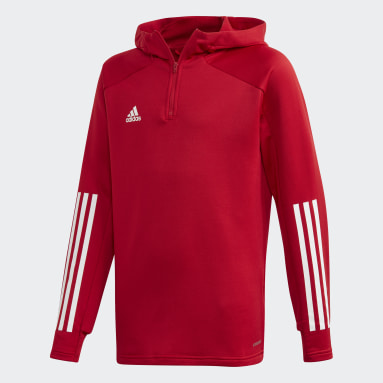Kids Football Red Condivo 20 Hooded Track Jacket
