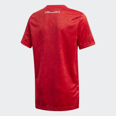 Boys Gym & Training Red Predator Allover Print Jersey