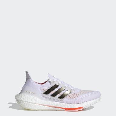 ผู้หญิง วิ่ง สีขาว รองเท้าวิ่ง Ultraboost 21 Tokyo