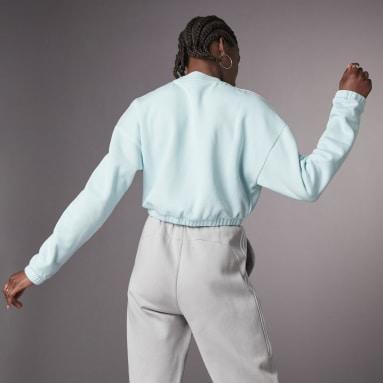 Women Sportswear Green Hyperglam Crop Crew Sweatshirt