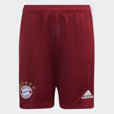 Děti Fotbal červená Domácí šortky FC Bayern 21/22