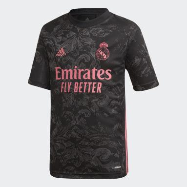Camisa 3 Real Madrid 20/21 Preto Meninos Futebol