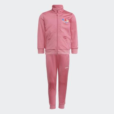 Conjunto de chaqueta y pantalón Adicolor Rosa Niño Originals