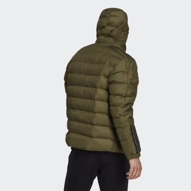 Men City Outdoor Green Itavic 3-Stripes Midweight Hooded Jacket