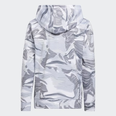 Youth Training White Camo Allover Print Hoodie