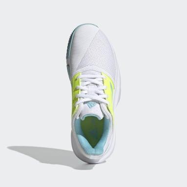 Chaussure CourtJam Tennis blanc Adolescents Tennis