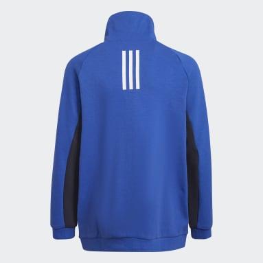 Boys Gym & Training Blue XFG Zipped Pocket Loose Track Top