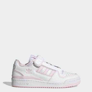 ผู้หญิง Originals สีขาว รองเท้า Forum Plus