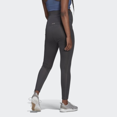 Women Gym & Training Grey Designed To Move 7/8 Sport Tights (Maternity)