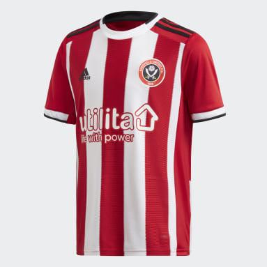 Jongens Voetbal Rood Sheffield United Thuisshirt