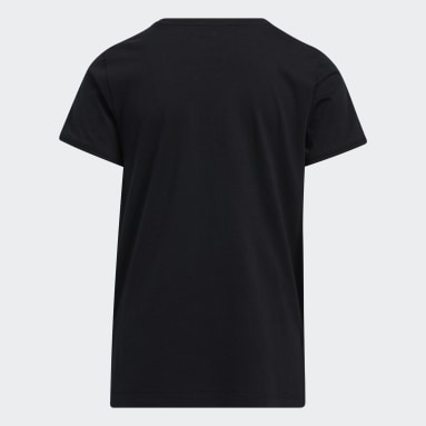Youth 8-16 Years Training Black Graphic Vent Tee