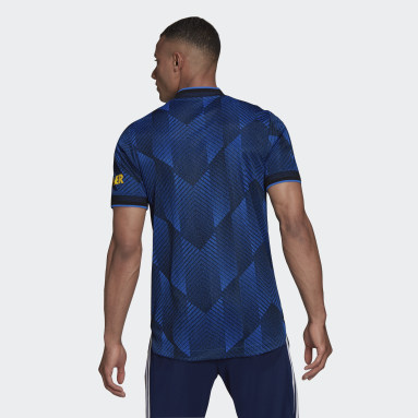 Camiseta tercera equipación Manchester United 21/22 Authentic Azul Hombre Fútbol