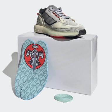 Men Originals Silver ZX 5K Boost Lerna Shoes