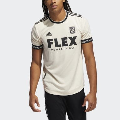 Men's Soccer White 21/22 LOS ANGELES FC AWAY JERSEY AUTHENTIC