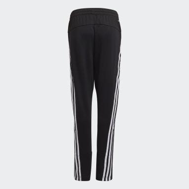 Boys Training Black AEROREADY Primegreen 3-Stripes Tapered Pants