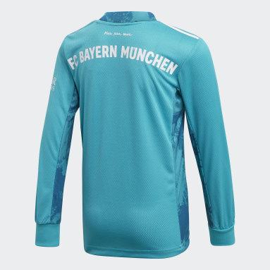 Barn Fotboll Grön FC Bayern Goalkeeper Jersey