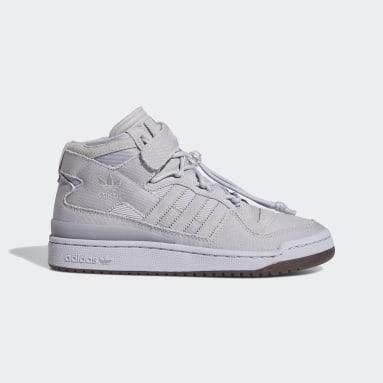 Originals Grey Forum Mid Shoes