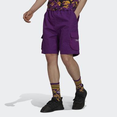 Pantalón corto adidas Adventure Ripstop Cargo Violeta Hombre Originals