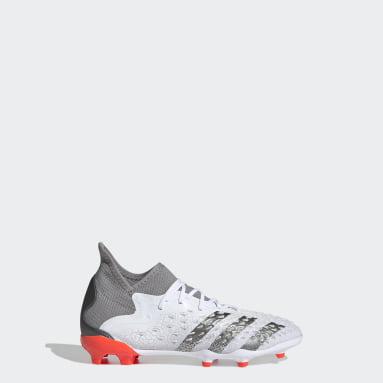 Kids Football White Predator Freak.1 Firm Ground Boots