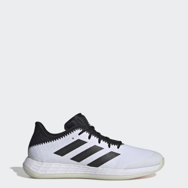 Men Netball White Adizero Fastcourt Handball Shoes