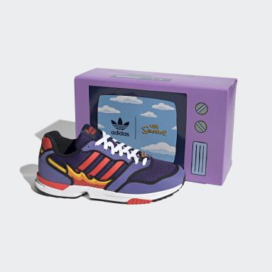 Originals Purple ZX 1000 The Simpsons Flaming Moe Shoes
