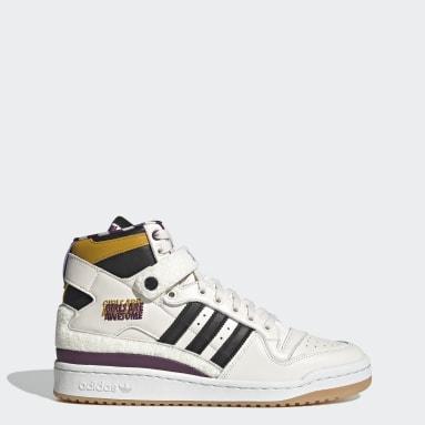 Originals White Forum 84 Hi Girls Are Awesome Shoes