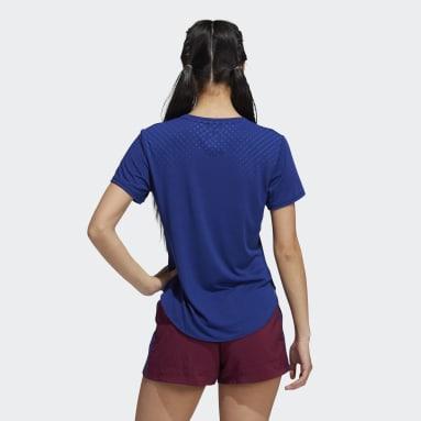 Women's Training Blue Graphic Tee