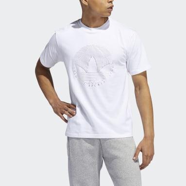 T-shirt Deco Trefoil Blanc Hommes Originals