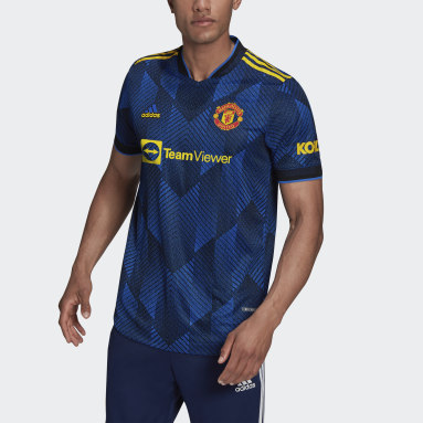 Men's Soccer Blue Manchester United 21/22 Third Authentic Jersey