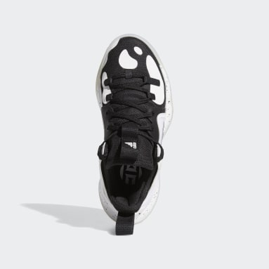 Youth 8-16 Years Basketball Black Harden Step-Back 2.0 Shoes