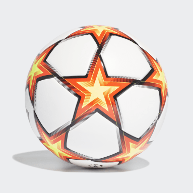 Football White UCL Junior League Pyrostorm Ball