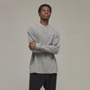 Men Y-3 Grey Y-3 Classic Polo Shirt