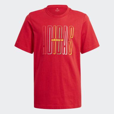 Youth 8-16 Years Originals Red Graphic Logo Print T-Shirt