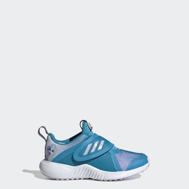 Children Running Turquoise FortaRun x Frozen Shoes