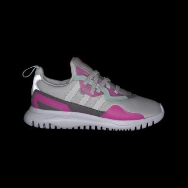 Children Originals Grey Originals Flex Shoes
