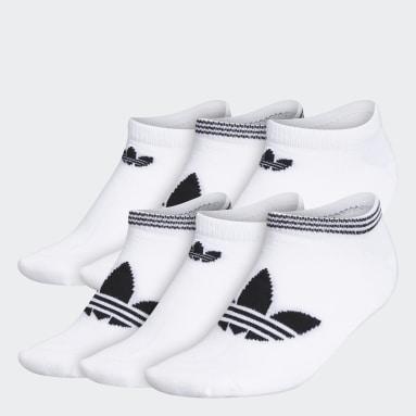 Women's Originals White Trefoil Superlite No-Show Socks 6 Pairs